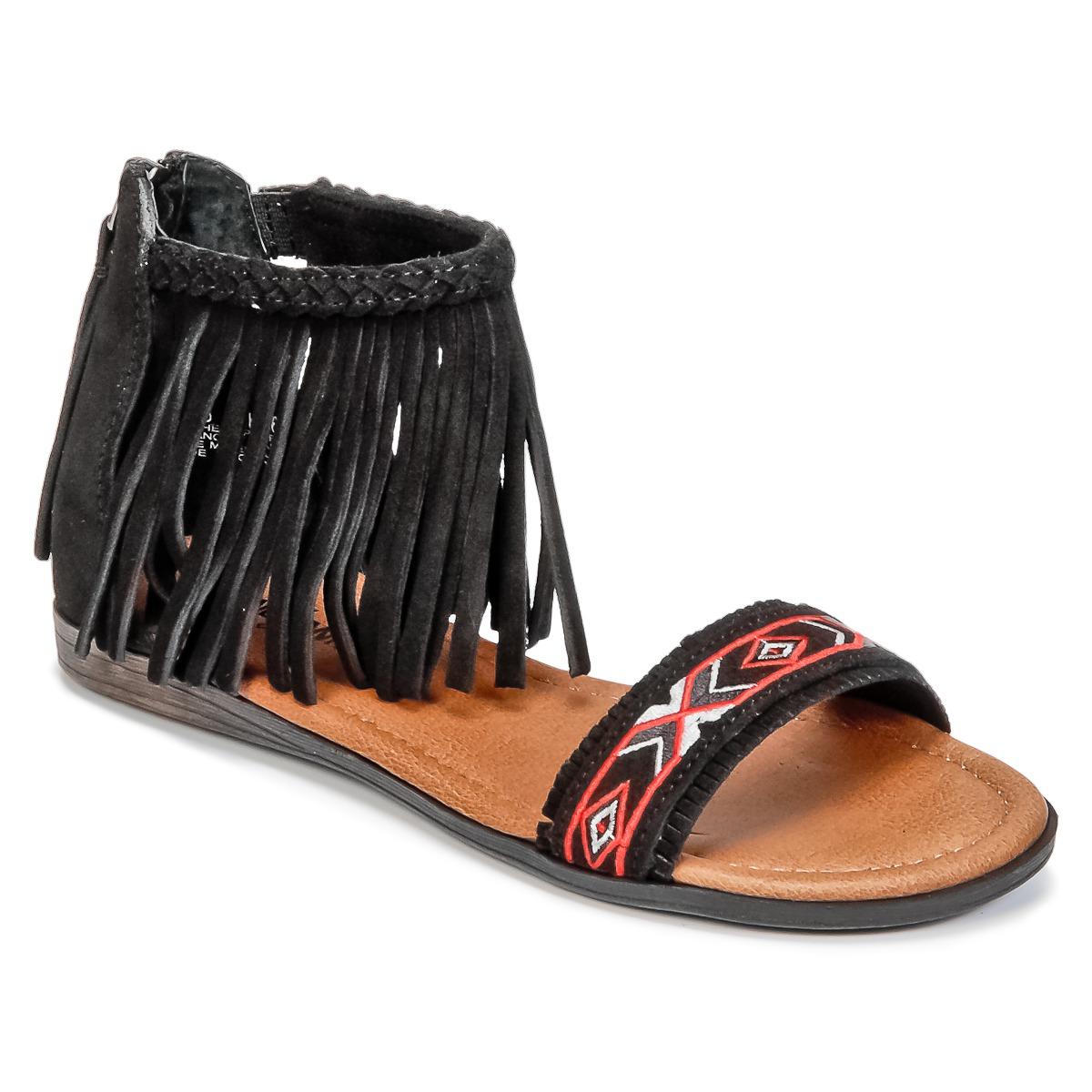 Minnetonka MOROCCO Schwarz - Kostenloser Versand bei Spartoode ! - Schuhe Sandalen / Sandaletten Damen 56,99 €