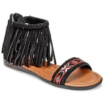 Schuhe Damen Sandalen / Sandaletten Minnetonka MOROCCO Schwarz