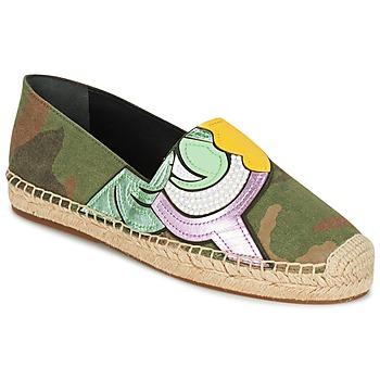 Schuhe Damen Leinen-Pantoletten mit gefloch Marc Jacobs SIENNA Kaki