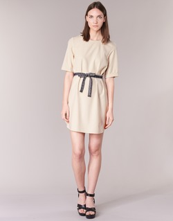 Kleidung Damen Kurze Kleider Vero Moda MILO SUKI Beige