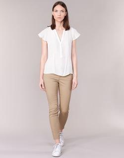 Kleidung Damen 5-Pocket-Hosen Vero Moda BUENO Beige