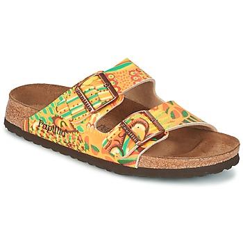 Schuhe Damen Pantoffel Papillio ARIZONA Gelb / Grün