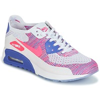 Schuhe Damen Sneaker Low Nike AIR MAX 90 FLYKNIT ULTRA 2.0 W Weiss / Blau / Rose