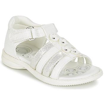 Schuhe Mädchen Sandalen / Sandaletten Chicco CAROTA Weiss / Silbern