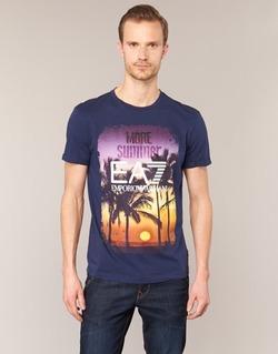 Kleidung Herren T-Shirts Emporio Armani EA7 TRAIN GRAPHIC Blau