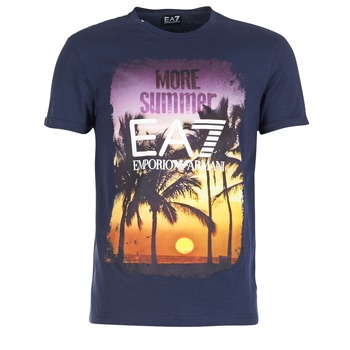Kleidung Herren T-Shirts Emporio Armani EA7 TRAIN GRAPHIC Blau