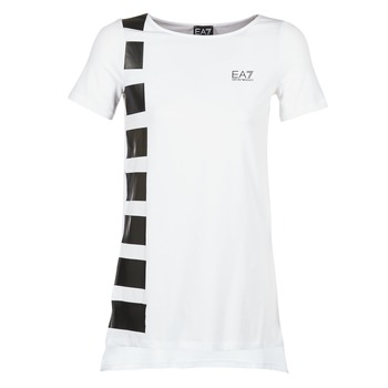 Kleidung Damen Tuniken Emporio Armani EA7 TRAIN MASTER Weiss / Schwarz