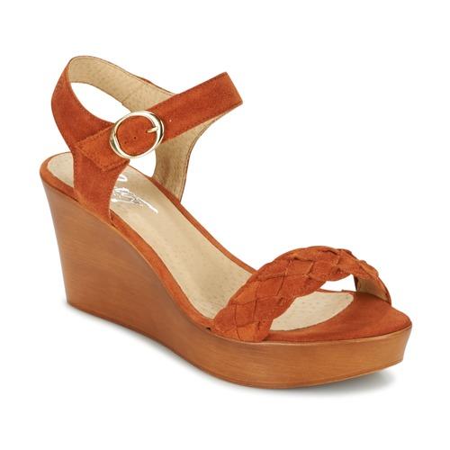 Betty London GIMI Orange  Schuhe Sandalen / Sandaletten Damen 59,99