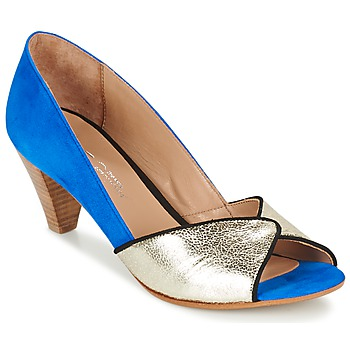 Schuhe Damen Pumps Betty London GABIN Blau / Gold