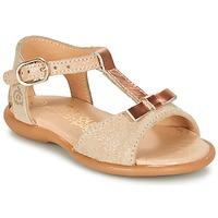 Schuhe Mädchen Sandalen / Sandaletten Citrouille et Compagnie GUGULE Gold