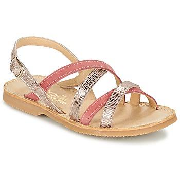 Schuhe Mädchen Sandalen / Sandaletten Citrouille et Compagnie GENTOU Rose / Silbern