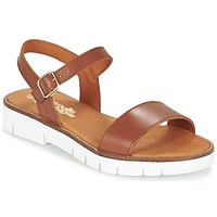 Schuhe Mädchen Sandalen / Sandaletten Citrouille et Compagnie GLAPOTI Camel