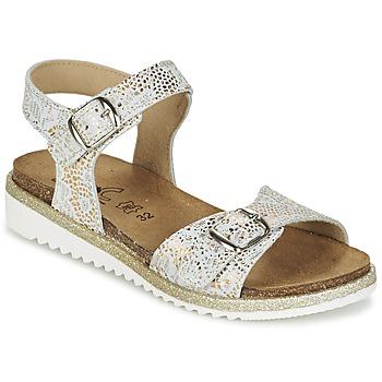Schuhe Mädchen Sandalen / Sandaletten Citrouille et Compagnie GAUFRETTE Gold