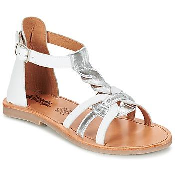 Schuhe Mädchen Sandalen / Sandaletten Citrouille et Compagnie GITANOLO Weiss / Silbern