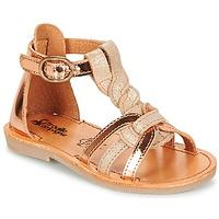 Schuhe Mädchen Sandalen / Sandaletten Citrouille et Compagnie GITANOLO Beige / Kupfer