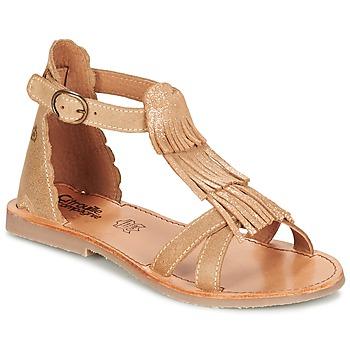 Schuhe Mädchen Sandalen / Sandaletten Citrouille et Compagnie GAMELA Camel