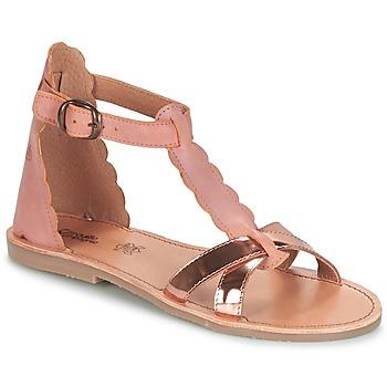 Schuhe Mädchen Sandalen / Sandaletten Citrouille et Compagnie GUBUDU Rose / Gold