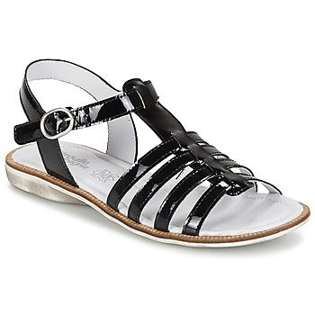 Schuhe Mädchen Sandalen / Sandaletten Citrouille et Compagnie GROUFLA Schwarz