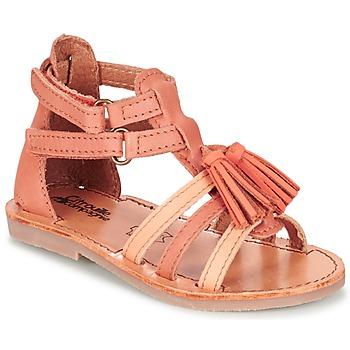 Schuhe Mädchen Sandalen / Sandaletten Citrouille et Compagnie GOFARO Pfirsisch