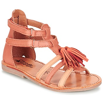 Schuhe Mädchen Sandalen / Sandaletten Citrouille et Compagnie GOFARO Orange