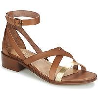Schuhe Damen Sandalen / Sandaletten Casual Attitude COUTIL Camel / Goldfarben