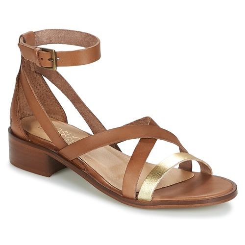 Casual Attitude COUTIL Camel / Goldfarben  Schuhe Sandalen / Sandaletten Damen 51,99
