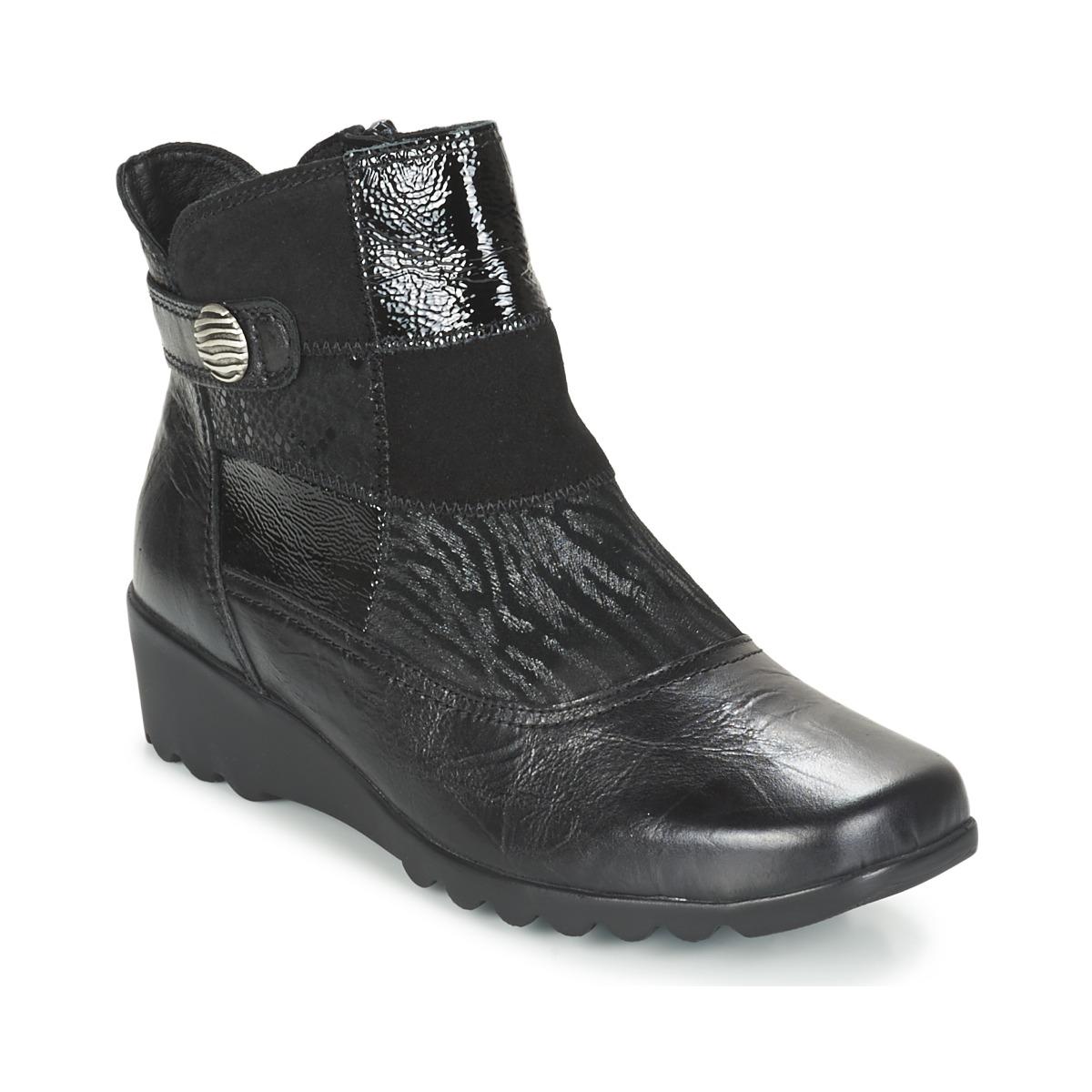 Romika Carree 16 Schwarz - Kostenloser Versand bei Spartoode ! - Schuhe Low Boots Damen 59,39 €