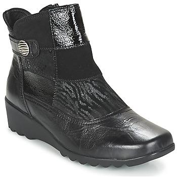 Schuhe Damen Low Boots Romika Carree 16 Schwarz