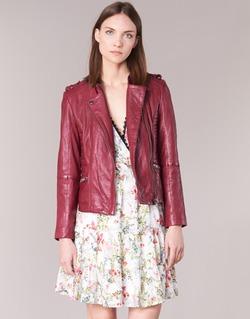 Kleidung Damen Lederjacken / Kunstlederjacken Naf Naf CRISCA Bordeaux