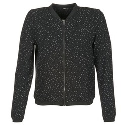 Kleidung Damen Jacken Only NOVA LACE Schwarz / Weiss