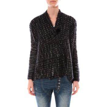 Kleidung Damen Pullover De Fil En Aiguille Gilet  Maella Noir FT15 Schwarz