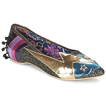 Schuhe Damen Ballerinas Irregular Choice GROUND CONTROL Schwarz / Gold