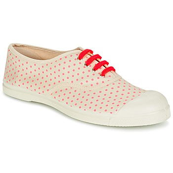Schuhe Damen Sneaker Low Bensimon TENNIS MINIPOIS Naturfarben / Rose