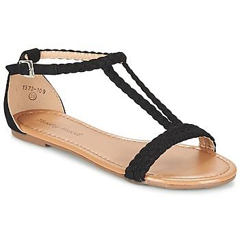 Schuhe Damen Sandalen / Sandaletten Moony Mood GEMINIELLE Schwarz