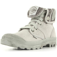 Schuhe Damen Sneaker High Palladium US Baggy Vapor Metal W F Grau