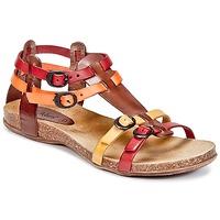 Schuhe Damen Sandalen / Sandaletten Kickers ANA Braun / Rot / Orange