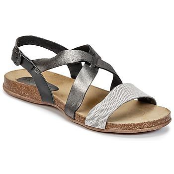 Schuhe Damen Sandalen / Sandaletten Kickers ANADAY Schwarz / Grau