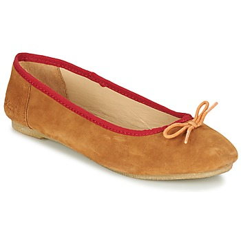 Schuhe Damen Ballerinas Kickers BAIE Braun / Orange
