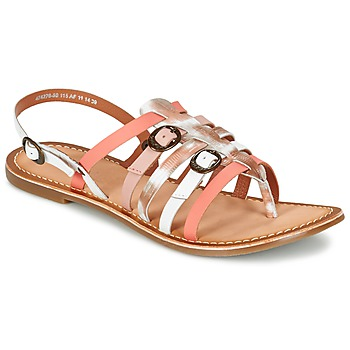 Schuhe Damen Sandalen / Sandaletten Kickers DIXMILLE Silbern / Rose / Weiss