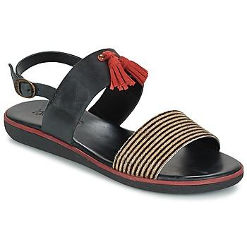 Schuhe Damen Sandalen / Sandaletten Kickers HYRO Schwarz / Rot