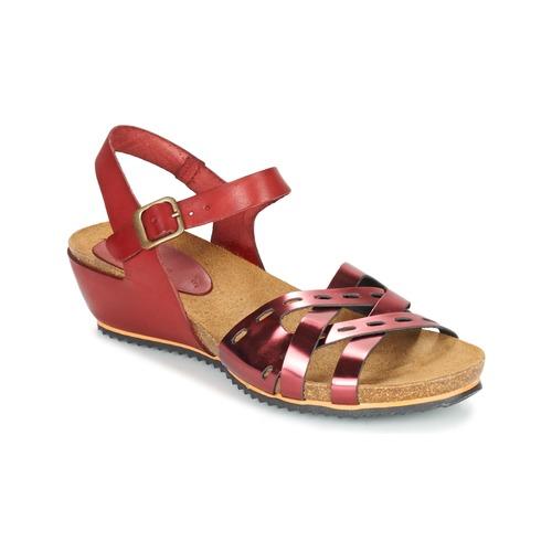 kickers tokanne rot kostenloser versand bei schuhe sandalen sandaletten damen. Black Bedroom Furniture Sets. Home Design Ideas