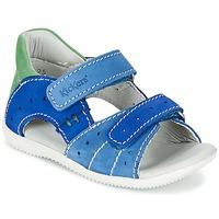 Schuhe Jungen Sandalen / Sandaletten Kickers BOPING Blau / Grün