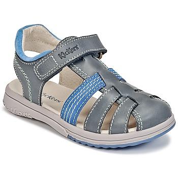 Schuhe Jungen Sandalen / Sandaletten Kickers PLATINIUM Blau / Blau