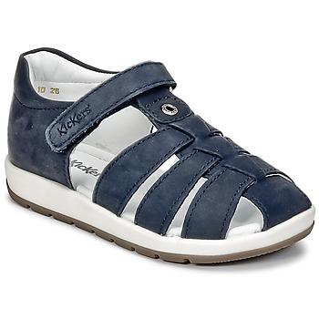 Schuhe Jungen Sandalen / Sandaletten Kickers SOLAZ Marine