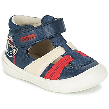 Schuhe Jungen Sandalen / Sandaletten Kickers ZOHAN Marine / Rot