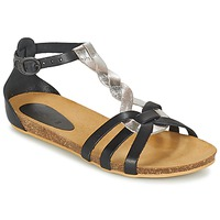 Schuhe Mädchen Sandalen / Sandaletten Kickers BOMTARDES Silbern / Schwarz