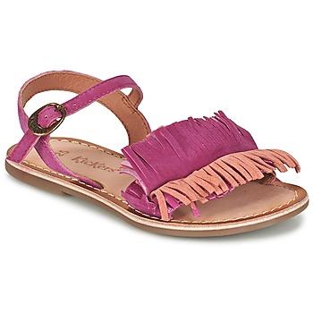 Schuhe Mädchen Sandalen / Sandaletten Kickers DIXFROUFROU KID Fuchsienrot / Korallenrot