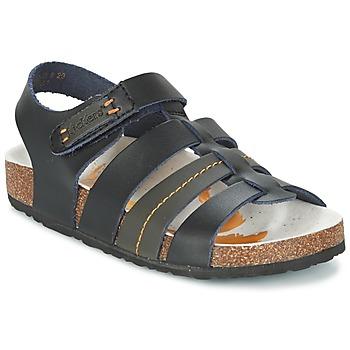 Schuhe Jungen Sandalen / Sandaletten Kickers MAGITEAM Schwarz