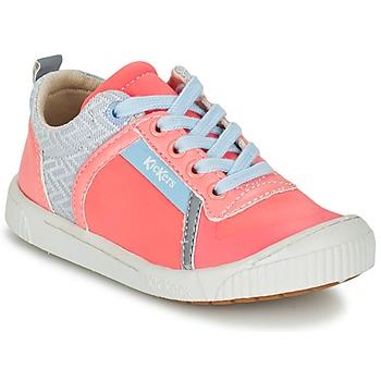 Schuhe Mädchen Sneaker Low Kickers ZIGUY Korallenrot / Blau