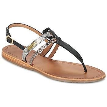 Schuhe Damen Sandalen / Sandaletten Les Tropéziennes par M Belarbi BARAKA Schwarz / Silbern